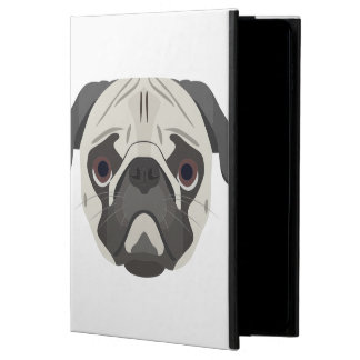Capa Para iPad Air 2 A ilustração persegue o Pug da cara