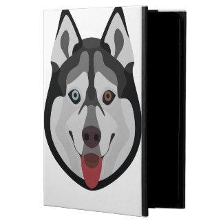Capa Para iPad Air 2 A ilustração persegue o rouco Siberian da cara
