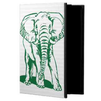 Capa Para iPad Air 2 A lápis bonito desenho do elefante do verde de