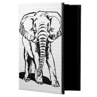Capa Para iPad Air 2 A lápis preto bonito na moda desenho do elefante