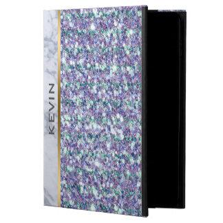 Capa Para iPad Air 2 Acento de mármore branco do brilho misturado das