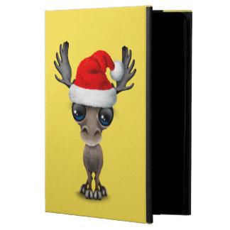 Capa Para iPad Air 2 Alces do bebê que vestem um chapéu do papai noel