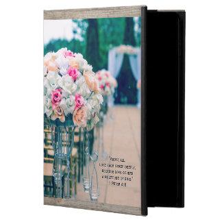 Capa Para iPad Air 2 Amor do buquê da flor e verso da bíblia do