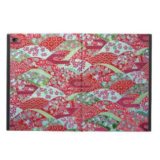 Capa Para iPad Air 2 Arte Origami floral vermelho Yuzen de Washi do