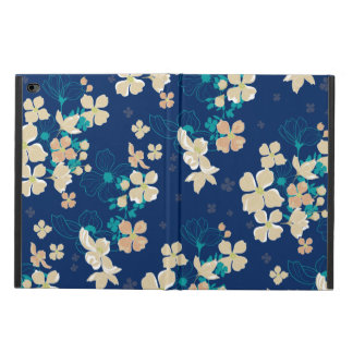 Capa Para iPad Air 2 Bege floral e cerceta