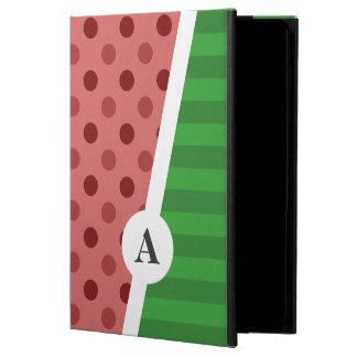Capa Para iPad Air 2 Bolinhas da melancia e monograma da listra