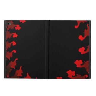Capa Para iPad Air 2 Branco preto vermelho do Fractal