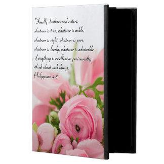 Capa Para iPad Air 2 Buquê do rosa Pastel do verso da bíblia das flores