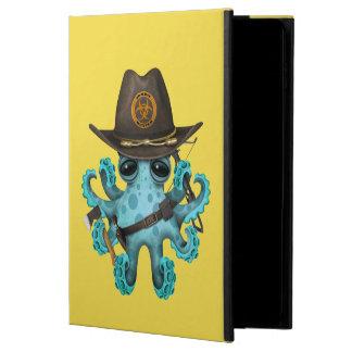 Capa Para iPad Air 2 Caçador do zombi do polvo do bebê azul