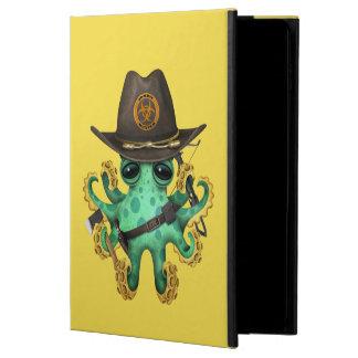 Capa Para iPad Air 2 Caçador verde do zombi do polvo do bebê
