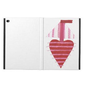 Capa Para iPad Air 2 Caixa do ar 2 da Eu-Almofada do barco de Loveheart