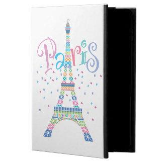 Capa Para iPad Air 2 Caso ar/Air2 do iPad dos confetes da torre Eiffel