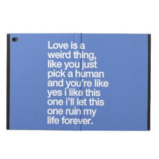 Capa Para iPad Air 2 Citações tristes do amor