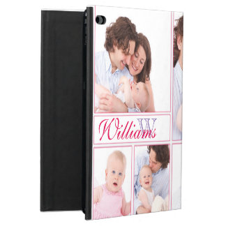 Capa Para iPad Air 2 Colagem Monogrammed Pastel formal de 7 fotos
