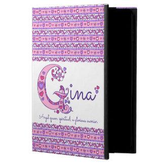 Capa Para iPad Air 2 Coração de G da letra de Gina e caso do ipad da