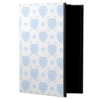 Capa Para iPad Air 2 Corações azuis & brancos românticos