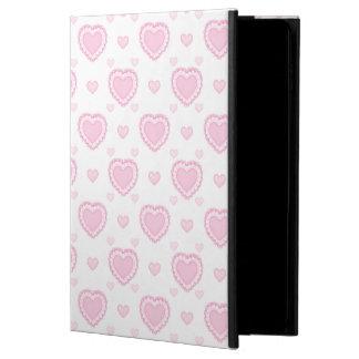 Capa Para iPad Air 2 Corações cor-de-rosa & brancos românticos