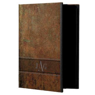Capa Para iPad Air 2 Design rústico do livro de Brown do Grunge