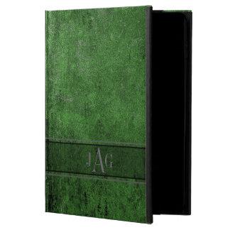 Capa Para iPad Air 2 Design rústico do Livro Verde do Grunge