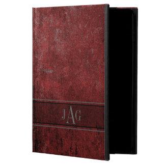 Capa Para iPad Air 2 Design vermelho do livro do Grunge rústico
