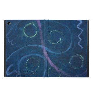 Capa Para iPad Air 2 Doodle azul Pastel do giz chique na moda doido da