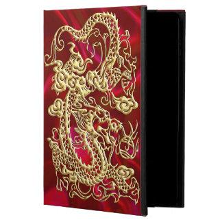Capa Para iPad Air 2 Dragão gravado do ouro no impressão vermelho do