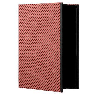 Capa Para iPad Air 2 Eco do pêssego e listra preta