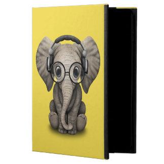 Capa Para iPad Air 2 Elefante bonito DJ do bebê que veste fones de
