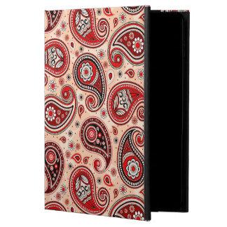 Capa Para iPad Air 2 Elegante bege vermelho do marrom do teste padrão