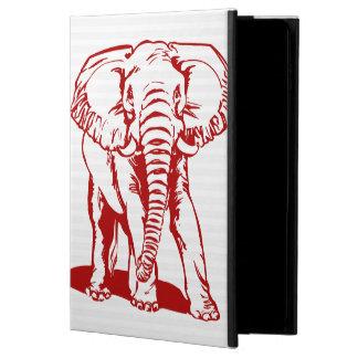 Capa Para iPad Air 2 Escuro - a lápis vermelho desenho do elefante