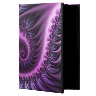 Capa Para iPad Air 2 Espiral roxa cor-de-rosa legal da arte do Fractal