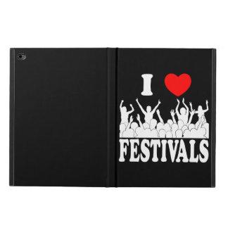 Capa Para iPad Air 2 Eu amo os festivais (brancos)