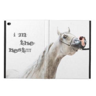 Capa Para iPad Air 2 eu sou o melhor!!!! coleção do cavalo. branco