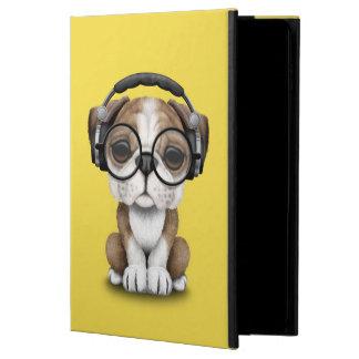 Capa Para iPad Air 2 Filhote de cachorro bonito DJ do buldogue que
