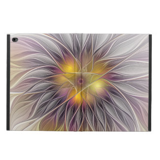 Capa Para iPad Air 2 Flor colorida luminosa, Fractal moderno abstrato