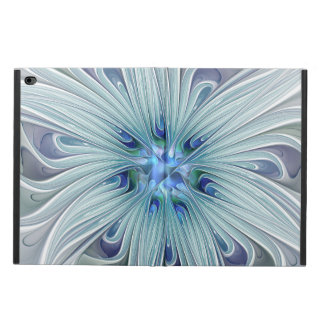 Capa Para iPad Air 2 Flor Pastel azul moderna do abstrato floral da