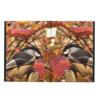 Capa Para iPad Air 2 Folha cor-de-rosa do outono com pássaros do