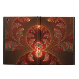 Capa Para iPad Air 2 Fractal moderno abstrato luminoso do vermelho