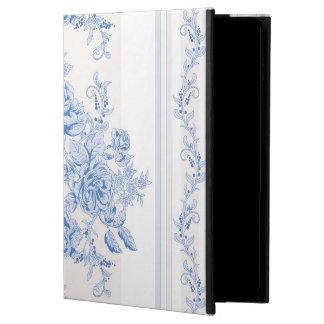 Capa Para iPad Air 2 Francês, chique, vintage, azul pálido, branco,