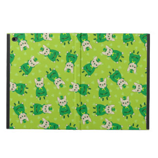 Capa Para iPad Air 2 Frenchie bonito afortunado no dia de St Patrick