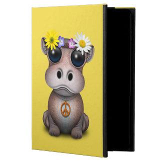 Capa Para iPad Air 2 Hippie bonito do hipopótamo do bebê