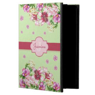 Capa Para iPad Air 2 Hortelã floral do lírio & da peônia