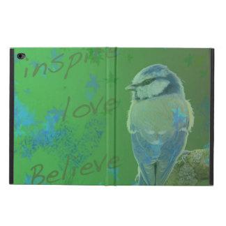 Capa Para iPad Air 2 Inspire o amor acreditam o caso de Ipad do pássaro