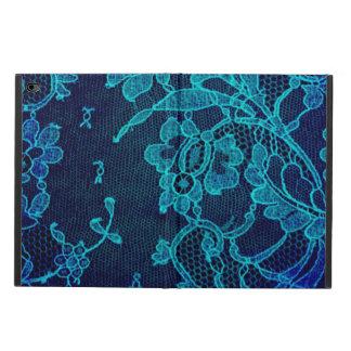 Capa Para iPad Air 2 Laço gótico dos azuis marinhos do Victorian