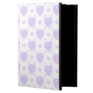 Capa Para iPad Air 2 Lilac romântico & corações brancos