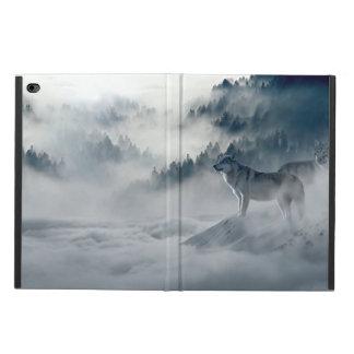 Capa Para iPad Air 2 Lobos na paisagem nevado do inverno