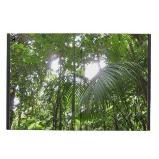 Capa Para iPad Air 2 Luz solar com o verde tropical do dossel da