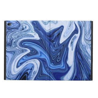 Capa Para iPad Air 2 Mármore branco azul do aqua dos redemoinhos da