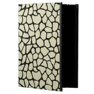 CAPA PARA iPad AIR 2  MÁRMORE SKIN1 PRETO & LINHO BEGE