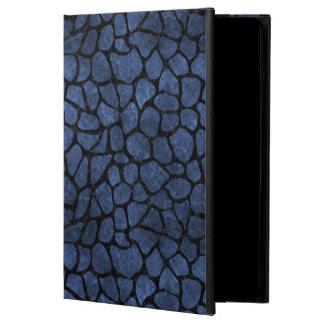 CAPA PARA iPad AIR 2  MÁRMORE SKIN1 PRETO & PEDRA AZUL